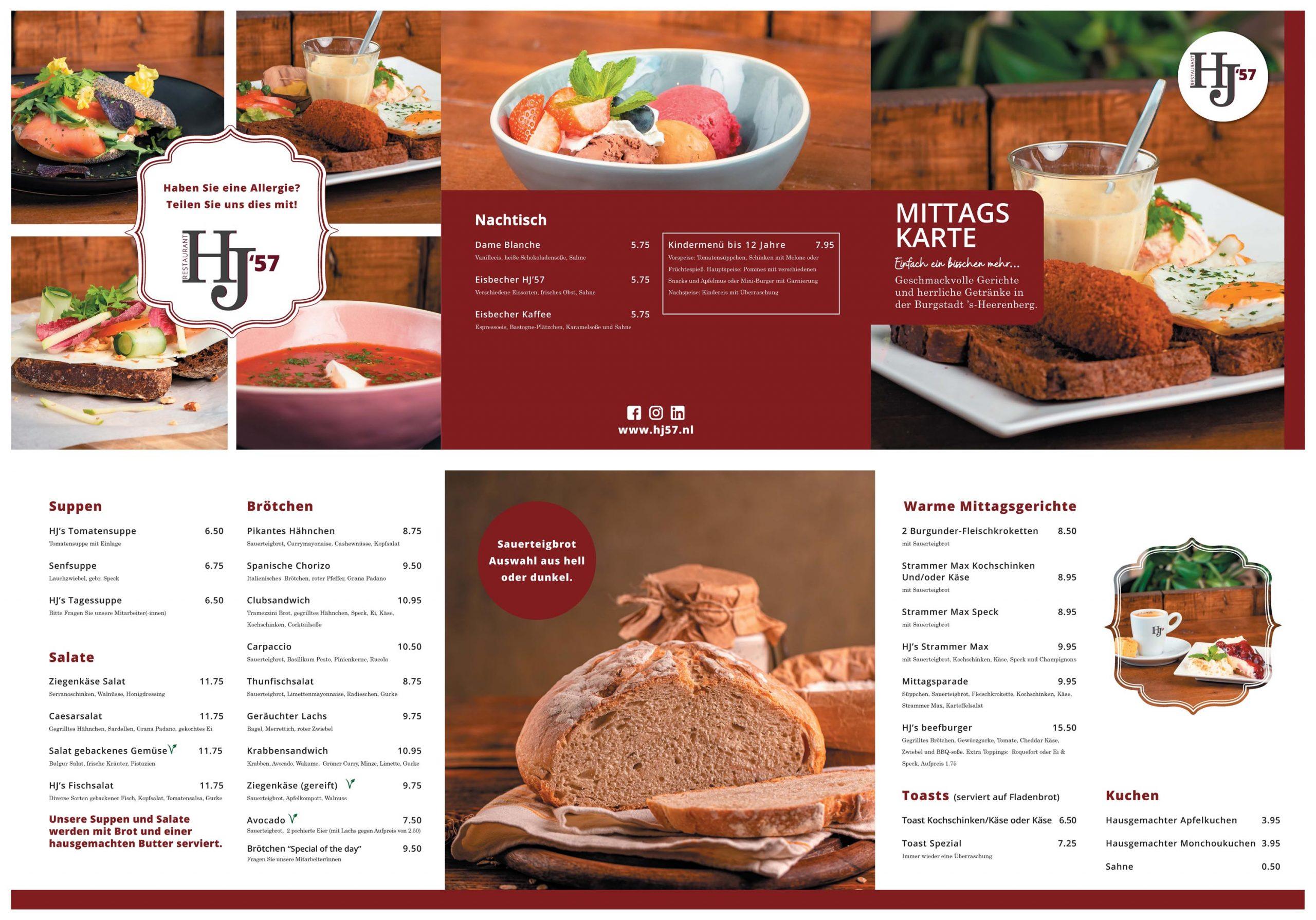 HJ57 Duitse lunchkaart